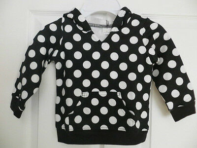 New Jumping Beans Toddler Girl Jacket Black And  White Polka Dots 12M, 18M , 24M