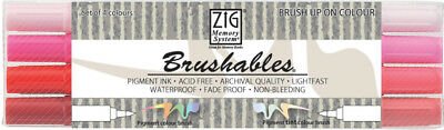 ZIG Brushable Brushpen Set in 4 Farbtönen Rot - Handlettering Stifte