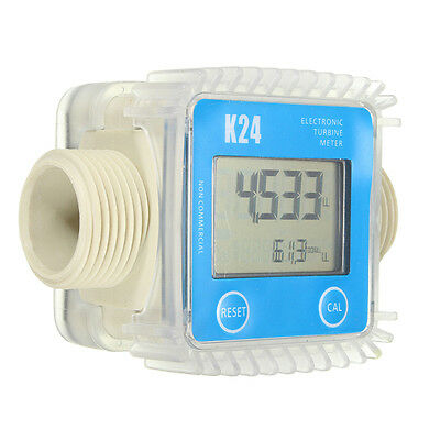 K24 Bule Turbine Digital Diesel Fuel Flow Meter For Chemicals Water