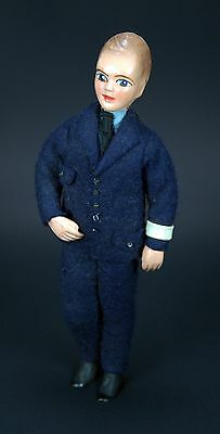 "Vintage 6-1/2"" Tall London Police Bobby Composition Doll - 1940's or 1950's?"
