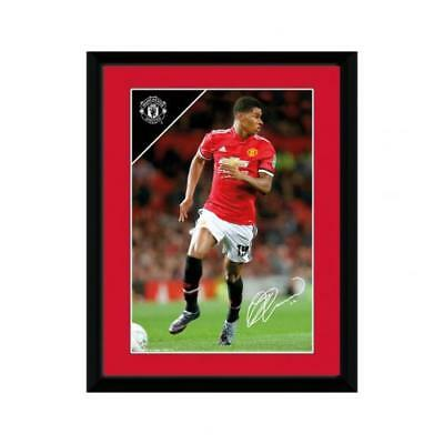 Manchester United FC Official Framed Marcus Rashford Picture 8 x 6 Inches