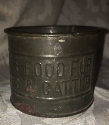 Pratts Food For Horses & Cattle Vintage Advertising Tin/Scoop Philadelphia