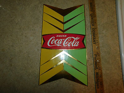 Vintage Coca Cola Decal Sticker 2pc Set For Inside and Outside of Glass