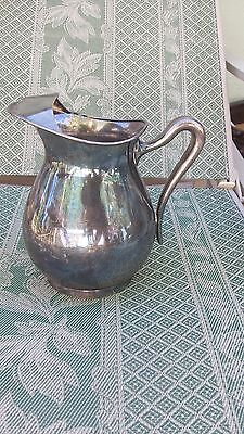 "Vintage Poole Silver Plate 8 1/2"" TALL Water Pitcher # 1280 TUNTON MASS ICEGUARD"