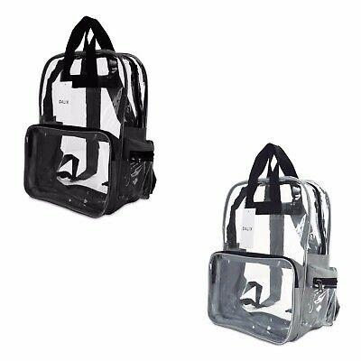 "DALIX 17"" Large Plastic Vinyl Clear Transparent School Security Backpack"