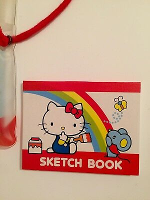 Vintage Hello Kitty Sketch Book And Color Pencils, Sanrio 1984, NEW!
