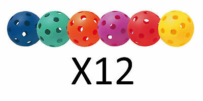 Champion Multicolored Plastic Baseballs Playground Safe Practice 6 Pc (12-Pack)
