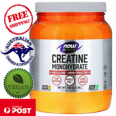 Now Foods Sports Creatine Monohydrate Pure Vegan Powder 2.2 lbs (1 kg)