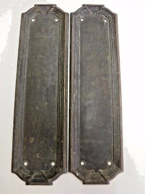 Antique Pressed Brass Yale & Towne Push Plates
