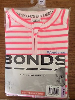 Bonds Zippy Size 0 Wondersuit 6 - 12 Months Brand New