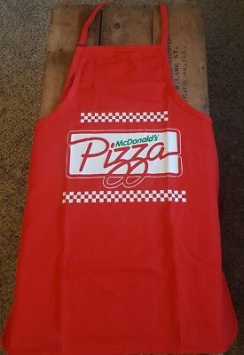 VINTAGE McDONALD'S PIZZA APRON-FAST FOOD-NOS-NEW OLD STOCK