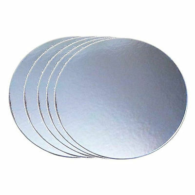 ROUND Set of 5 Cardboard cake boards - 5, 6, 7, 8, 9 inch