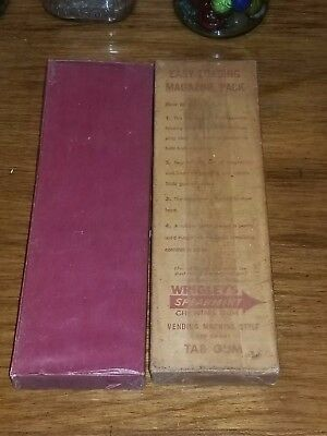 original wrigleys and beech nut tab gum - 2 unopened boxes