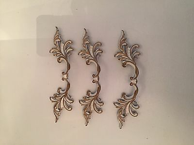 3 French Provincial Drawer Pulls Handles