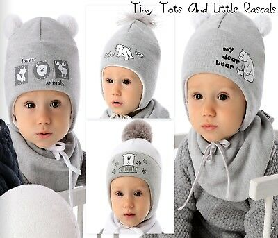 Baby Boy Infant Warm Acrylic Winter Hat Christening  Santa Gift newborn - 18 mth