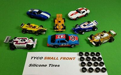 TYCO 440 Magnum 440X2 SMALL FRONT SILICONE TIRES HO Slot Car 8 pair lot.