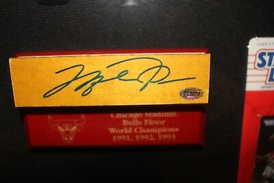 Michael Jordan Autographed Piece of Chicago Stadium Floor