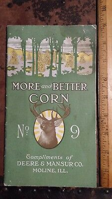 antique 1913-15 John Deere more and better corn booklet