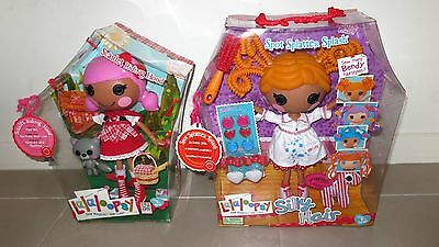 2 LALALOOPSY Dolls : Scarlet Riding Hood & Silly Hair Sopt Splatter Splash ~ NEW