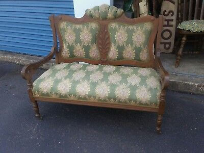 Antique Settee On Castor Wheels-Age Unknown