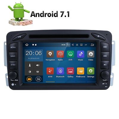 """7"""" 1080P NAV Car DVD GPS DVR Android 7.1 For BENZ C/CLK/M/G W203 W209 W163 Viano"""