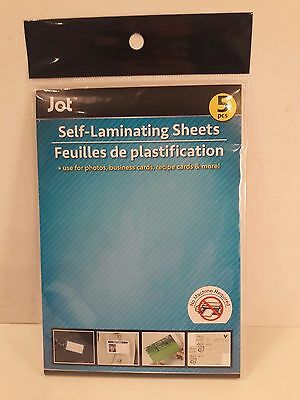 5 Pack of Self Laminating Sheets 4X6 - Ships from USA