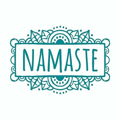 Namaste Yoga Mandala Tribal Vinyl Car Decal Sticker