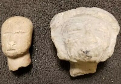 Teotihuacan Heads Pre-Columbian Archaic Ancient Artifacts Olmec Toltec Aztec NR