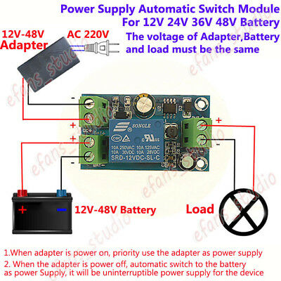 Power Supply Automatic Switch Controller Module For DC 12V 24V 36V 48V Battery