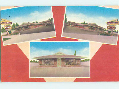 Linen NEW TOWN MANOR MOTEL Canton Ohio OH M6178