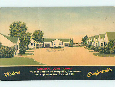 Linen COLEMAN TOURIST COURT MOTEL Marysville Tennessee TN M6247