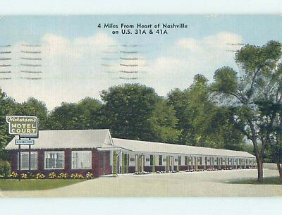 Linen HICKERSON COURT MOTEL Nashville Tennessee TN M6167