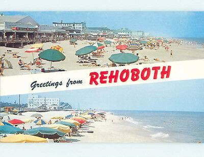 Pre-1980 COCA-COLA SIGNS AT FOOD STAND ON BEACH Rehoboth Beach Delaware DE M6957