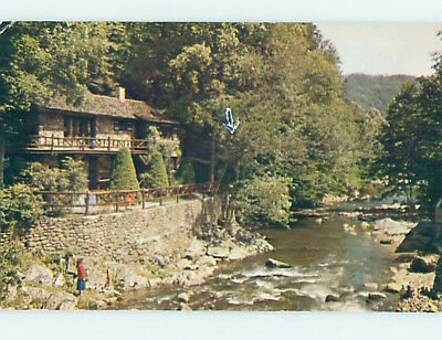 Pre-1980 LODGE SCENE Gatlinburg Tennessee TN J7689