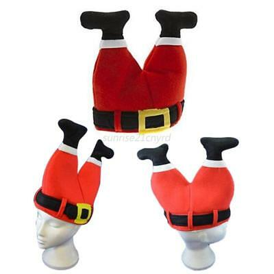 Christmas Funny Plush Santa Claus Pant Hats Cap for Adult Children Decor Costume