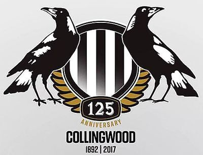 Collingwood Magpies AFL 125 Years Anniversary 1892-2017 BIG A4 Sticker or Magnet
