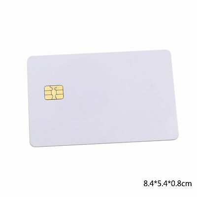 10 Pc ISO PVC IC With SLE4442 Chip Blank Smart Card Contact IC Card Safety White