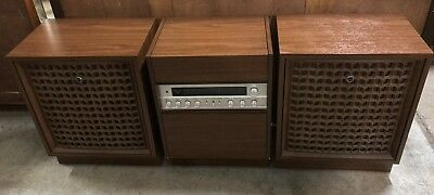 Vintage Retro Sanyo DC 570XN Stereo System Radio Record Player In Working Order