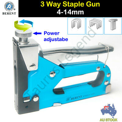 3 In 1 Heavy Duty Staple Gun Tacker Upholstery Stapler 600 Free Staples Bt9205