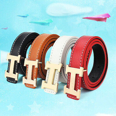 Fashion Men Casual Children Faux Leather Adjustable Belts For Boys Girls Gifts