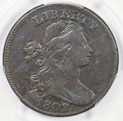 1802 S-239 R-3 PCGS VF 20 Draped Bust Large Cent Coin 1c Ex; Reiver