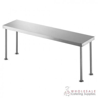 Bench Single Overshelf 1500x300x450mm Kitchen Storage Simply Stainless NEW