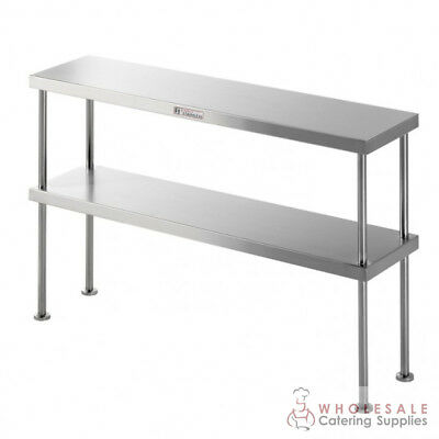 Bench Double Overshelf 1200x300x450mm Kitchen Storage Simply Stainless NEW