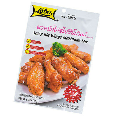 Lobo Spicy Chicken Big Wings Marinade Mix For Baked Fried BBQ Chicken 50g