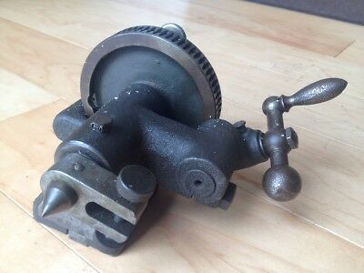 BROWN AND DIVIDING HEAD indexable #6344 usa made mill lathe tailstock hardinge