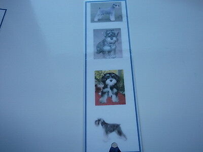Laminated Dog Bookmark - Schnauzer