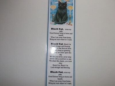 Laminated Cat Bookmark - Black Cat