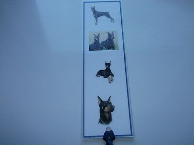 Laminated Dog Bookmark - Doberman