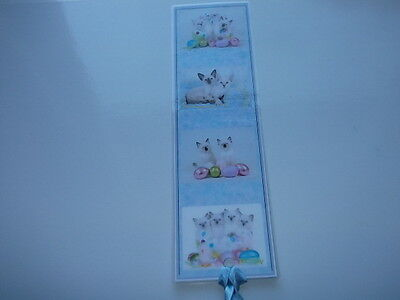 Laminated Cat Bookmark - Cute Kittens