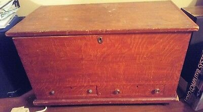 1890's Chest/Trunk Quarter Saw Oak - Good Condition, Needs Some Work